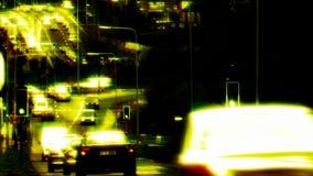 Traffico di lasso di tempo stock footage
