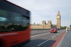 Traffico di Londra e del grande Ben Immagine Stock