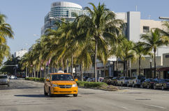 Traffico di Miami Immagini Stock