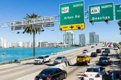 Traffico di Miami Fotografia Stock