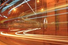 Traffico di notte di Hong Kong Fotografia Stock