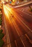 Traffico di notte nella città Fotografia Stock Libera da Diritti