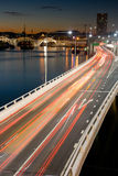 Traffico di ora di punta di Brisbane Immagine Stock