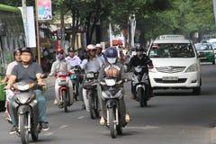 Traffico di ora di punta di Ho Chi Minh City Fotografie Stock