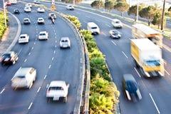 Traffico di ora di punta di mattina Fotografia Stock