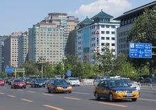 Traffico di Pechino Immagine Stock