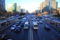 Traffico di Pechino Fotografia Stock