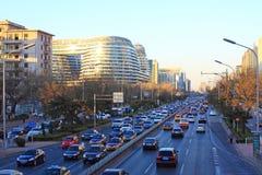 Traffico di Pechino Fotografia Stock Libera da Diritti