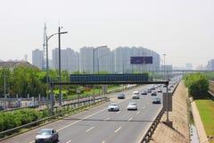 Traffico di Pechino Fotografie Stock Libere da Diritti