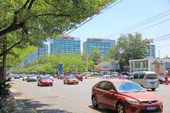Traffico di Pechino Immagini Stock