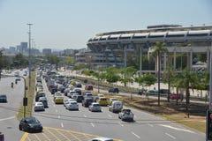 Traffico di Rio de Janeiro Fotografia Stock
