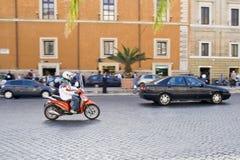 Traffico di Roma Fotografia Stock