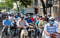 Traffico di Saigon Fotografia Stock