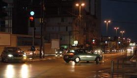 Traffico di sera Fotografia Stock