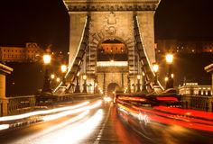 Traffico di sera Fotografie Stock Libere da Diritti