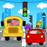 Traffico di trasporto in città Fotografia Stock Libera da Diritti