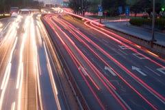 Traffico di viaggio delle automobili Immagine Stock Libera da Diritti