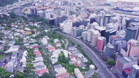 Traffico di Wellington City Morning Traffic Aerial video d archivio