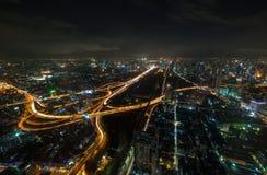 Traffico dopo il tramonto Fotografia Stock Libera da Diritti