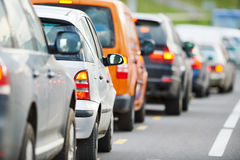 Traffico durante l'ora di punta Fotografie Stock Libere da Diritti