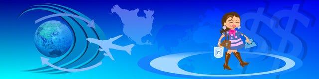 Traffico e commercio elettronico in tutto il mondo Fotografia Stock Libera da Diritti