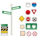 Traffico e segnali stradali Fotografia Stock Libera da Diritti