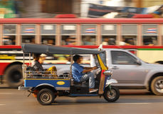 Traffico frenetico di Bangkok - Tailandia Fotografia Stock