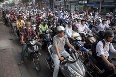 Traffico in Ho Chi Minh City Fotografia Stock Libera da Diritti