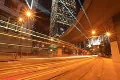 Traffico a Hong Kong Immagine Stock