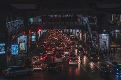 Traffico nel cuore di Bangkok Fotografia Stock Libera da Diritti