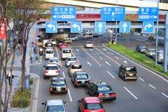 Traffico nel Giappone Fotografia Stock