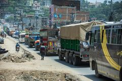 Traffico nel Nepal Fotografia Stock