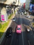 Traffico nella città di Bangkok della Tailandia Fotografia Stock Libera da Diritti