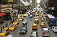 Traffico a New York fotografie stock