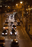 Traffico notturno immagini stock