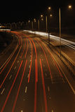 traffico notturno Fotografia Stock