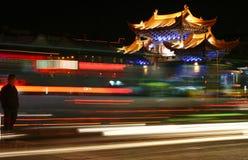 Traffico notturno in Cina Fotografia Stock Libera da Diritti