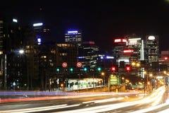 Traffico occupato alla notte Fotografia Stock Libera da Diritti
