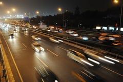 Traffico a Pechino Fotografie Stock Libere da Diritti