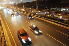 Traffico a Pechino Fotografia Stock Libera da Diritti