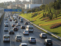 Traffico pesante Fotografie Stock