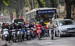 Traffico pesante nel Vietnam Immagine Stock