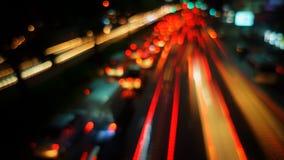 Traffico sfuocato del timelapse