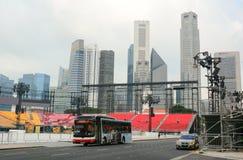 Traffico a Singapore Fotografia Stock Libera da Diritti