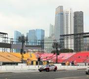 Traffico a Singapore Fotografie Stock Libere da Diritti