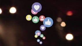 Traffico sociale di media stock footage