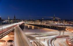 Traffico a Stoccolma fotografie stock libere da diritti