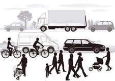 Traffico stradale   royalty illustrazione gratis