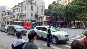 Traffico stradale in Cina Fotografia Stock