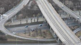 Traffico stradale da sopra video d archivio